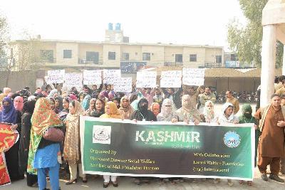 لاثانی ویلفیئر فائونڈیشن (رجسٹرڈ) انٹرنیشنل اور محکمہ سوشل ویلفیئر و بیت المال حکومت پنجاب کے تعاون سے فیصل آباد میں یوم یکجہتی کشمیر کے سلسلہ میں ریلی کا انعقاد